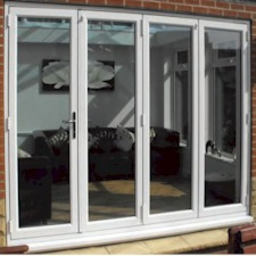 UPVC Double Glazed Made to measure Bi-fold 4 Pane Centre Split Folding Door