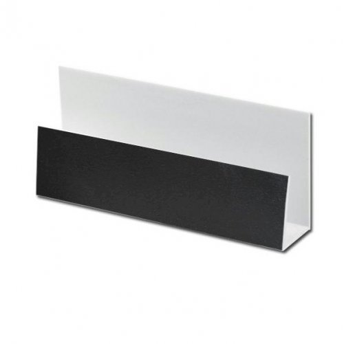 Black Ash uPVC Cladding U-Trim