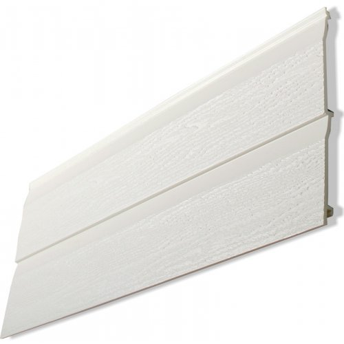 300mm Double -  Kavex Embossed Shiplap Cladding - White