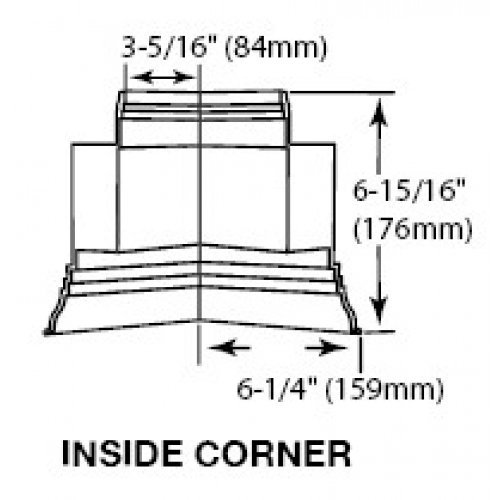 Soffit UPVC Plastic Dentil Trim Internal Corner