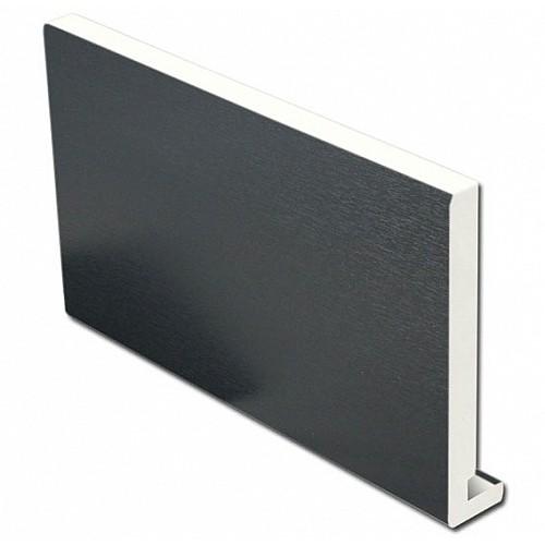 16mm 400mm x 5m Fascia Board Anthracite Grey 7016 UPVC