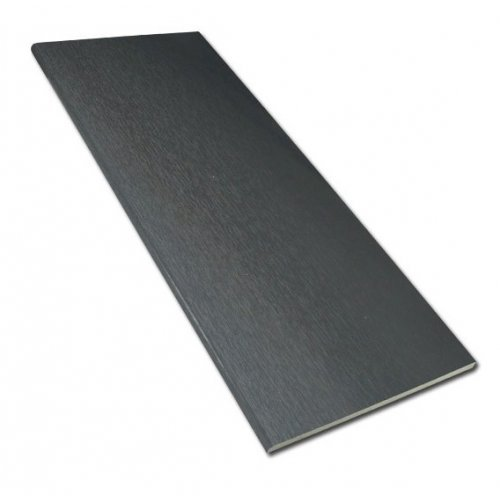 9mm x 300mm x 5m Flat Board Anthracite Grey 7016 UPVC