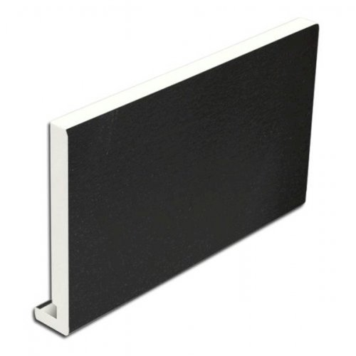 300mm x 16mm uPVC Black Ash Replacement Fascia Board