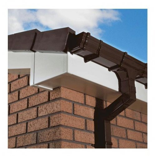 16mm 175mm x 5m Full Replacement Fascia Board Cream Ash Effect