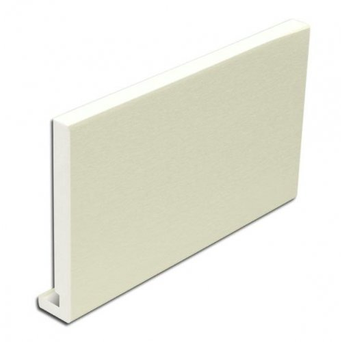 16mm 400mm x 5m Full Replacement Fascia Board Cream Ash Effect