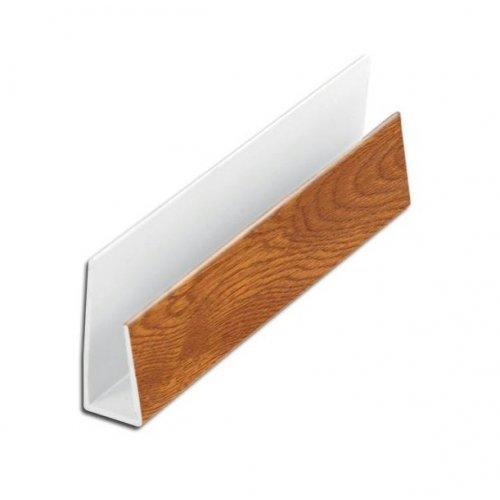 Light Oak Soffit 5m Edge Trim