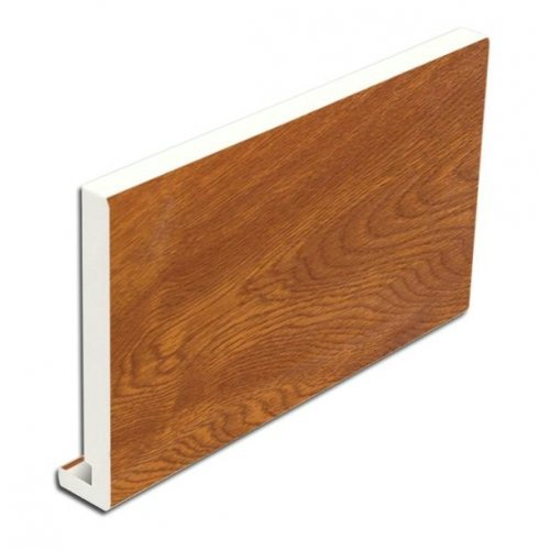 16mm Light Oak uPVC Fascia Boards - 150mm x 5m