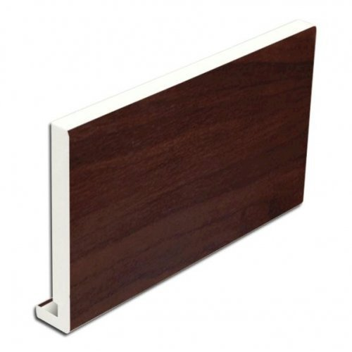 200mm x 16mm  x 5m uPVC Rosewood Replacement Fascia Board