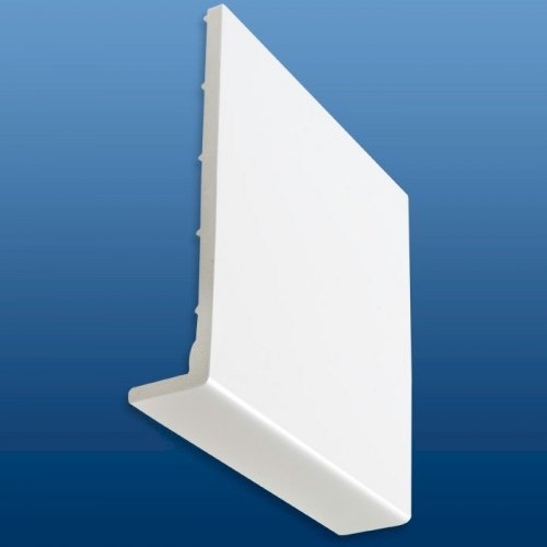Kestrel White uPVC 9mm Fascia Cober Board 350mm x 5m