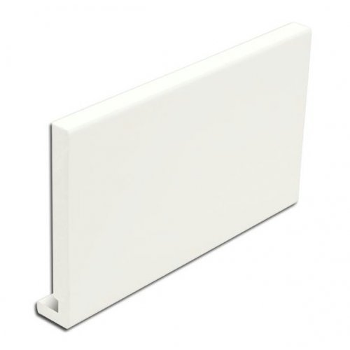 22mm White uPVC Full Replacement Fascia Board 225mm