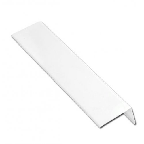 White uPVC Flexible Angle Trim 25mm x 25mm x 2.5m
