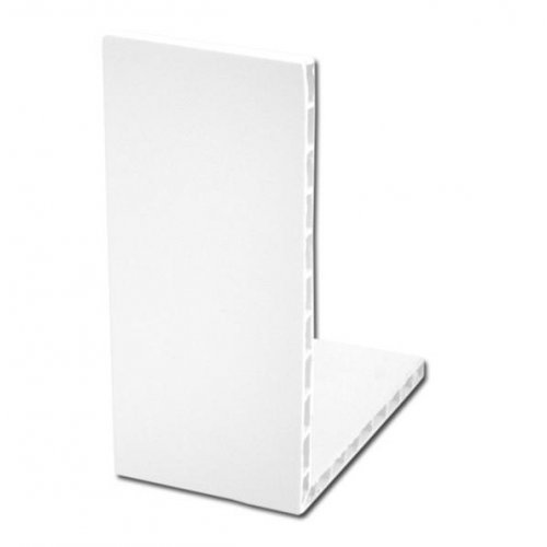 White uPVC Rigid Angle Trim 100mm x 80mm 90º
