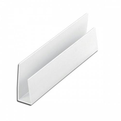 Hollow Soffit/Cladding Edge Trim - 10mm edge trim 5m length