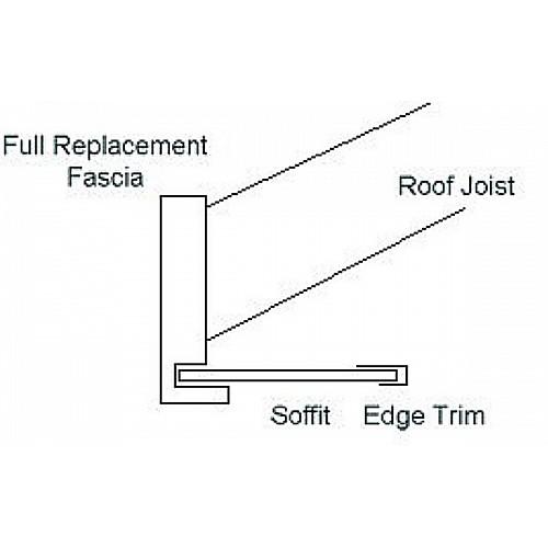 9mm x 400mm x 5m Flat UPVC Brown Soffit - Flat Board