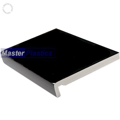 17mm 150mm x 5m Plain Black Fascia Board