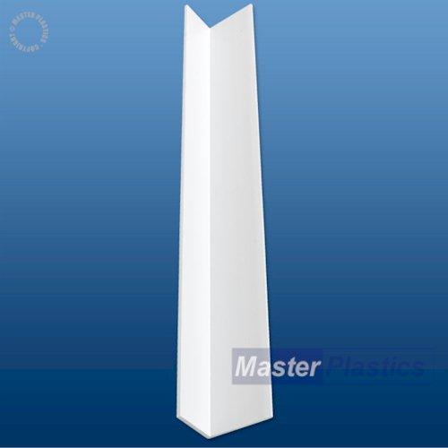 40mm (2mm) x 30mm (3mm) UPVC Plastic Rigid Angle 3m