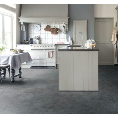 Viligno Dark Grey Tile Click LVT Flooring - Pack of 4