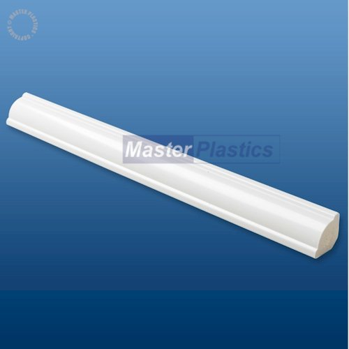 White Kestrel 18mm uPVC Ogee Quadrant