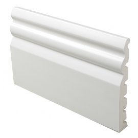 UPVC White Plastic : 125mm Ogee Skirting Board - 5m Long x 18mm Thick