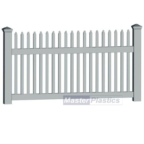 Simple Picket Fence: 1.8m Plastic Simple UPVC White Picket Fence Rail Panels