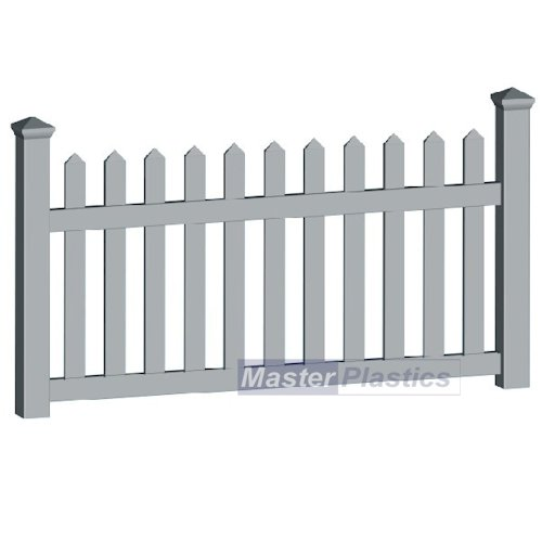 Simple Picket Fence: Plastic Type 2 Wide Picket 1.8m Simple Picket Fence Rail
