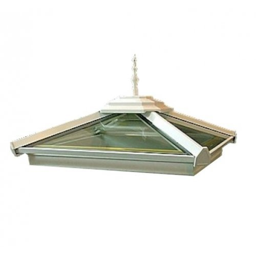 Upto 1.250m x 1.250m Pyramid Roof Light Glass Roof Dome Made To Measure Roof Glass SkyLight Light