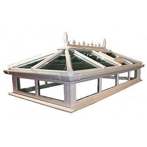 Up To 1.0m x 2.0m Glass Roof Lantern Light