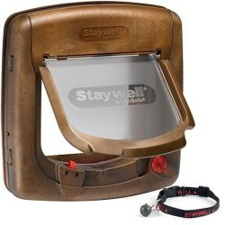 Staywell Petsafe 420 Deluxe Magnetic Cat Flap Woodgrain