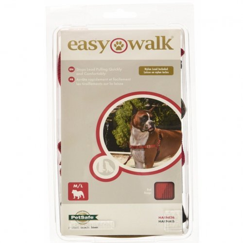 Easy Walk Dog Harness - Medium-Large - Red