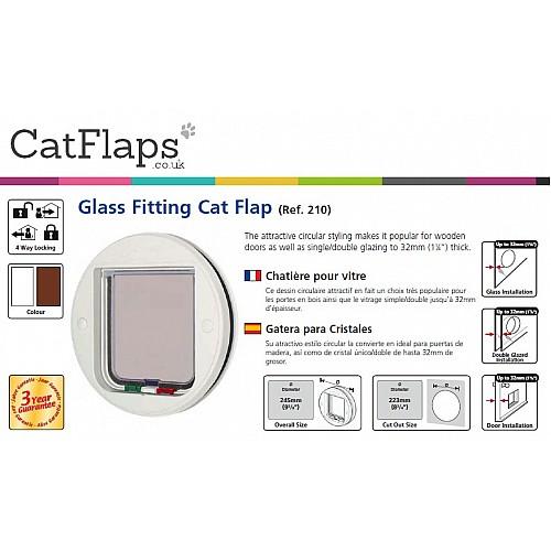 Catmate Glass Fitting Cat Flap