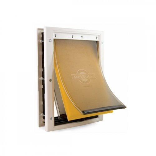 Petsafe extreme weather energy efficient pet door small for Dog door flap material