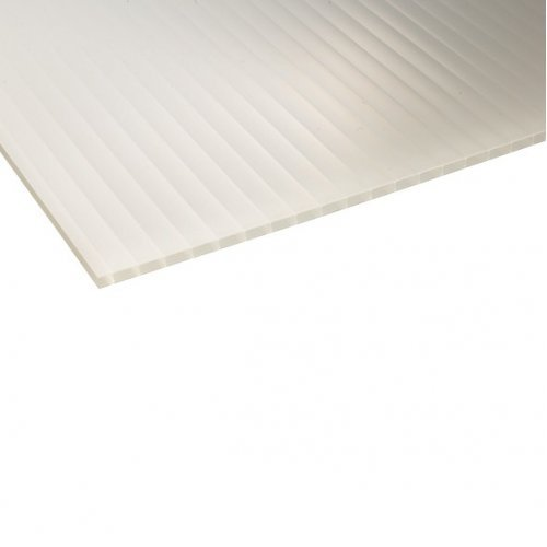 10mm X 2100mm X 6000mm - Twin Wall Polycarbonate Sheet - Opal