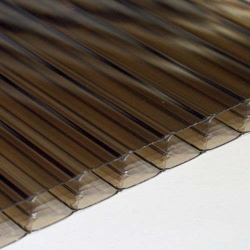 16mm X 1400mm X 4000mm - Multi-Wall / Triple Wall Polycarbonate Sheet - Bronze