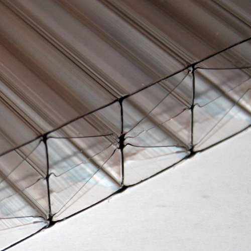 25mm X 1200mm X 2500mm - Multi-Wall / Five Wall Polycarbonate Sheet - Bronze