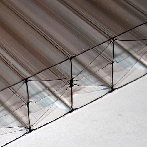 25mm X 980mm X 1500mm - Multi-Wall / Five Wall Polycarbonate Sheet - Bronze