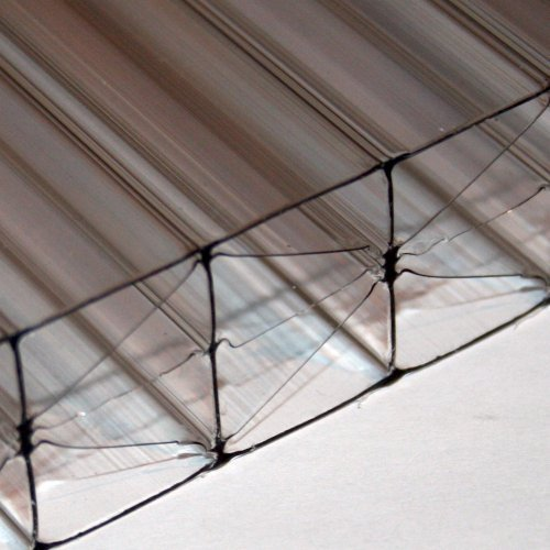 25mm X 1200mm X 4000mm - Multi-Wall / Five Wall Polycarbonate Sheet - Clear