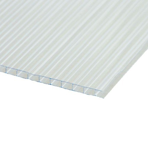 4mm X 1830mm X 915mm Twin Wall Polycarbonate - Greenhouse Sheets - Clear