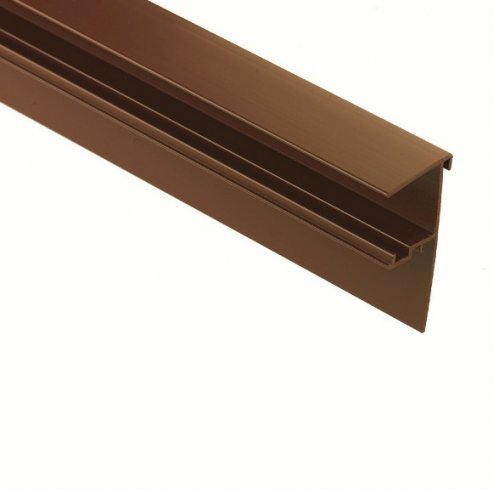 Snap Down 4m Edge Trim - White or Brown