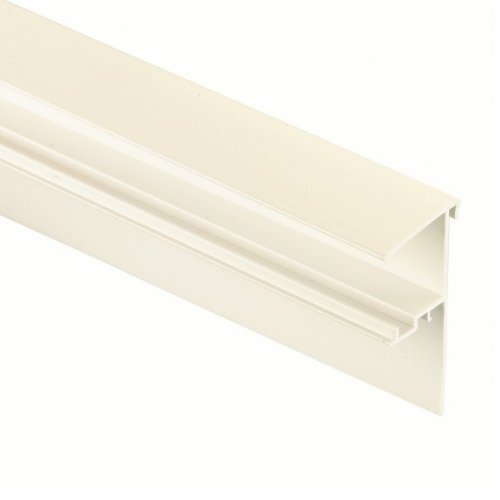 3m Polycarbonate Roof Edge Trim - 16mm White
