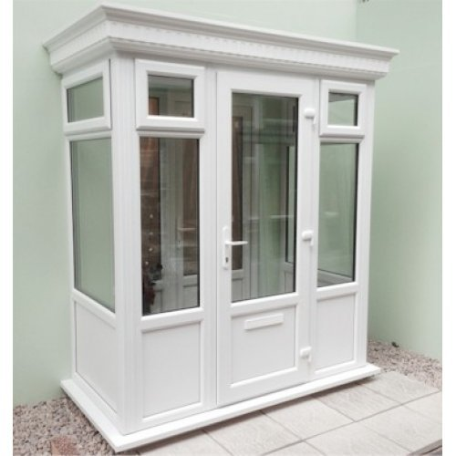 Diy Double Glazed Porch With A Grp Flat Roof 2 0m X 1 0m