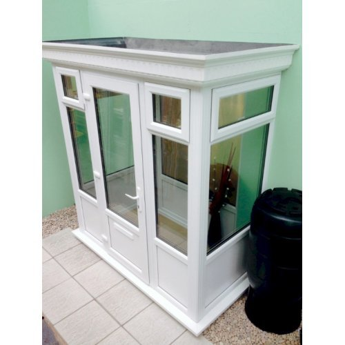 DIY Double Glazed Porch with a GRP Flat Roof 3.0m X 1.0m