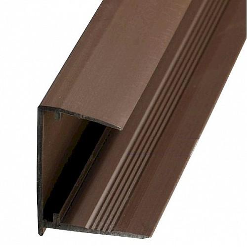 10mm Polycarbonate Sheet End Closure - Brown