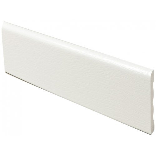 White UPVC Plastic Ridge Back  Architrave Skirting 40,60,80,90,or 100mm - 5m Long x 7mm Thick