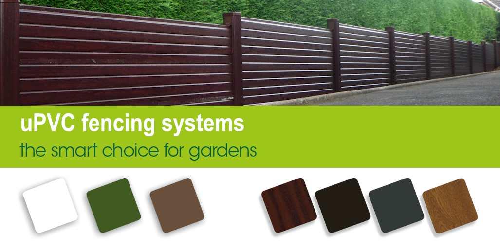 Garden Plastic Fence Posts Amp Gravel Board System