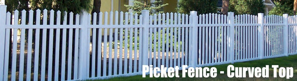 Garden White Picket Fence Curved Top